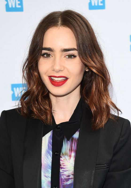 Lily Collins - WE Day Cocktail Party in Los Angeles 04/26/2017