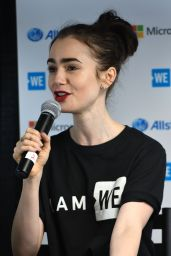 Lily Collins - We Day Founder Craig Kielburger for Q&A in Seattle 4/21/2017