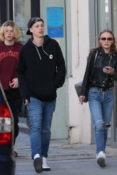 Lily-Rose Depp and Her Boyfriend Ash Stymest - Strolling Down the Streets in Paris 4/12/2017