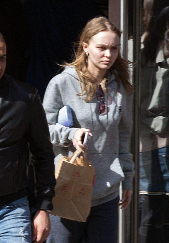 Lily-Rose Depp at McDonald