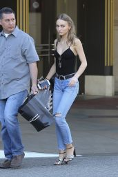 Lily-Rose Depp Casual Style - Shopping at Nordstrom in West Hollywood 04/24/2017