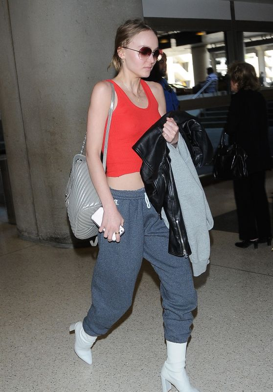 Lily-Rose Depp Travel Outfit - LAX Airport 4/10/2017