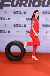 "Lina van de Mars – ""Fast & Furious 8"" Premiere at CineStar Sony Center in Berlin 4/4/2017"