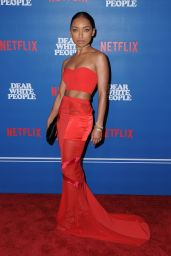 """Logan Browning at """"Dear White People"""" TV Series Premiere in LA 04/27/2017"""