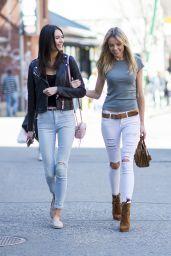 Louisa Warwick and Jessica Barta Lam in SoHo in New York 4/9/2017