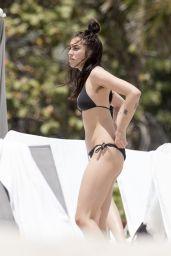 Lourdes Leon Beach Bikini Fun - Beach in Miami 4/10/2017