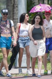 Lourdes Leon With friends - Out in Miami 4/11/2017