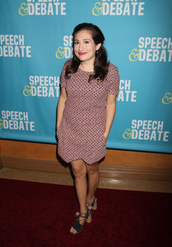 "Lucy DeVito at ""Speech & Debate"" Premiere in New York 4/2/2017"