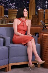 Lucy Hale Appeared on The Tonight Show Starring Jimmy Fallon in NYC, April 2017