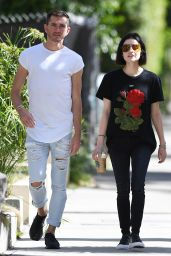 Lucy Hale Drinks a Starbucks Iced Coffee - Taking a Stroll in West Hollywood 04/28/2017