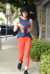 Lucy Hale in Spandex - Out in Los Angeles 4/13/2017