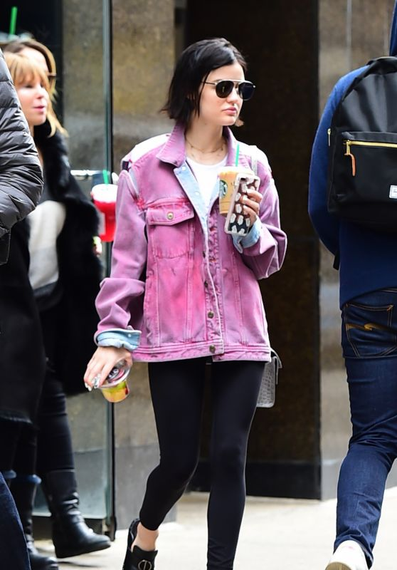 Lucy Hale Street Style - Leaving a Starbucks in Midtown 4/19/2017