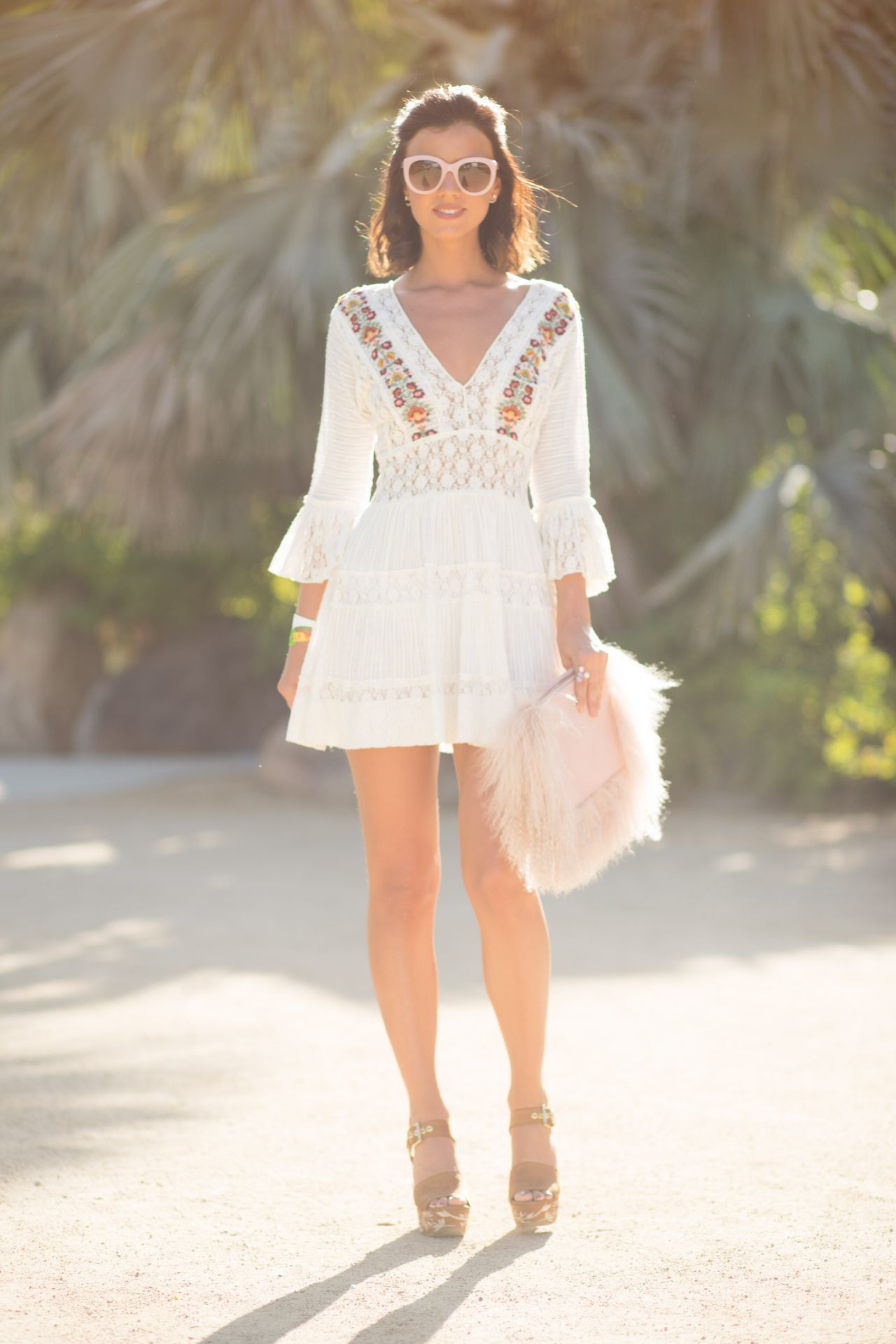 Lucy Mecklenburgh – Rachel ZOEasis at Coachella in Palm Springs, April 2017