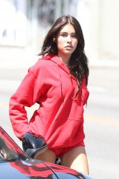 Madison Beer at a Tanning Salon in Los Angeles 4/12/2017
