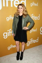 """Mae Whitman at """"Gifted"""" Premiere in Los Anegeles 4/4/2017"""