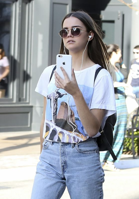Maia Mitchell Chatting On Her iPhone - Shopping at The Grove in West Hollywood 4/5/2017
