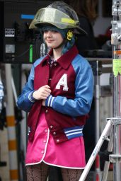 """Maisie Williams - """"Departures"""" Filming in Upstate New York 04/25/2017"""