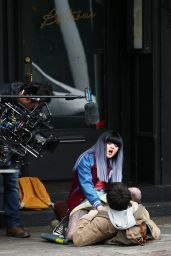 Maisie Williams on the Set With Asa Butterfield in Upstate New York 04/26/2017