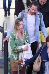 Margot Robbie and Husband Tom Ackerley Arrive in NY 4/23/2017
