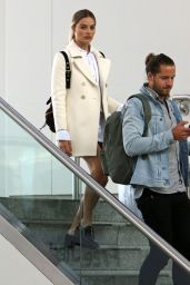 Margot Robbie and Husband Tom Ackerley - Catch a Flight out of New York 04/26/2017