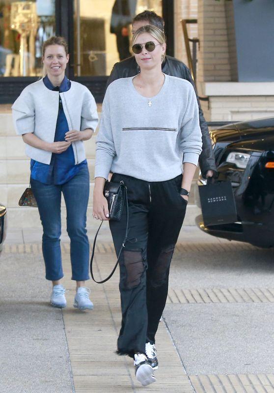 Maria Sharapova Shopping at Barneys New York in Beverly Hills 4/3/2017