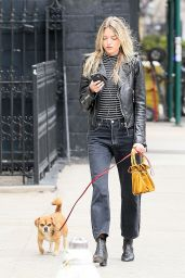 Martha Hunt Urban Outfit - Walks Her Dog in New York 4/7/2017