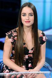 """Matilde Gioli Appeared on """"Che tempo che fa"""" TV Show in Milan 4/2/2017"""