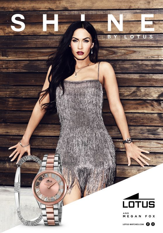 Megan Fox New Face of Lotus Watches, April 2017