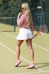 Megan McKenna - Playing Tennis in Essex, UK 4/20/2017