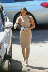 Melanie Brown Arrives at a Friends House in Beverly Hills 4/5/2017