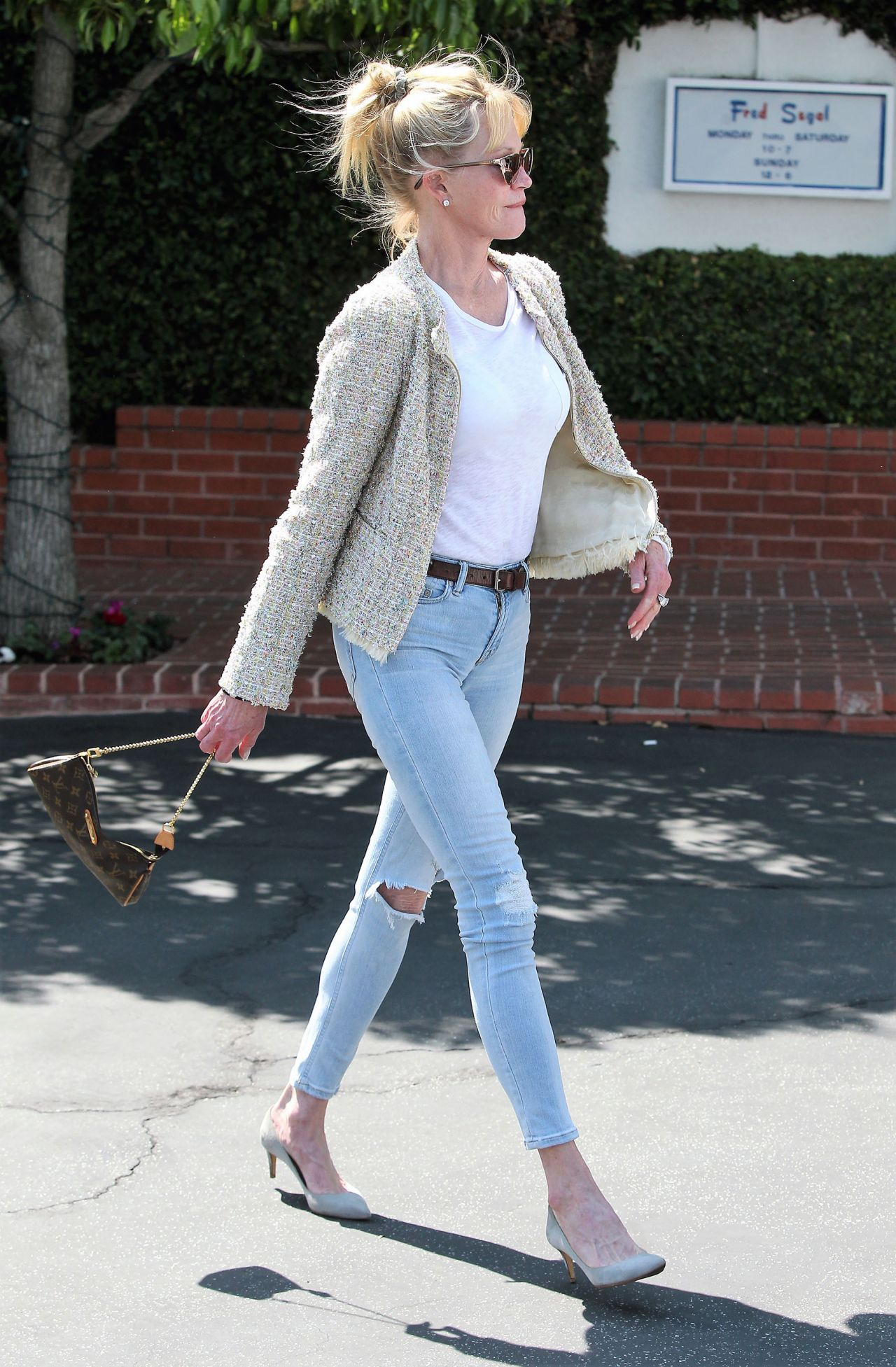Melanie Griffith Spring Ideas Shops At Fred Segal In LA