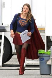 "Melissa Benoist - ""Supergirl"" Set in Vancouver 04/25/2017"