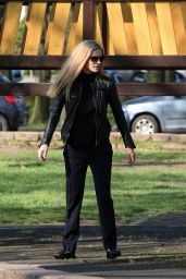 Michelle Hunziker at the Park in Milan, Italy 4/3/2017