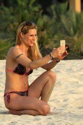 Michelle Hunziker in Bikini - Dubai 4/11/2017