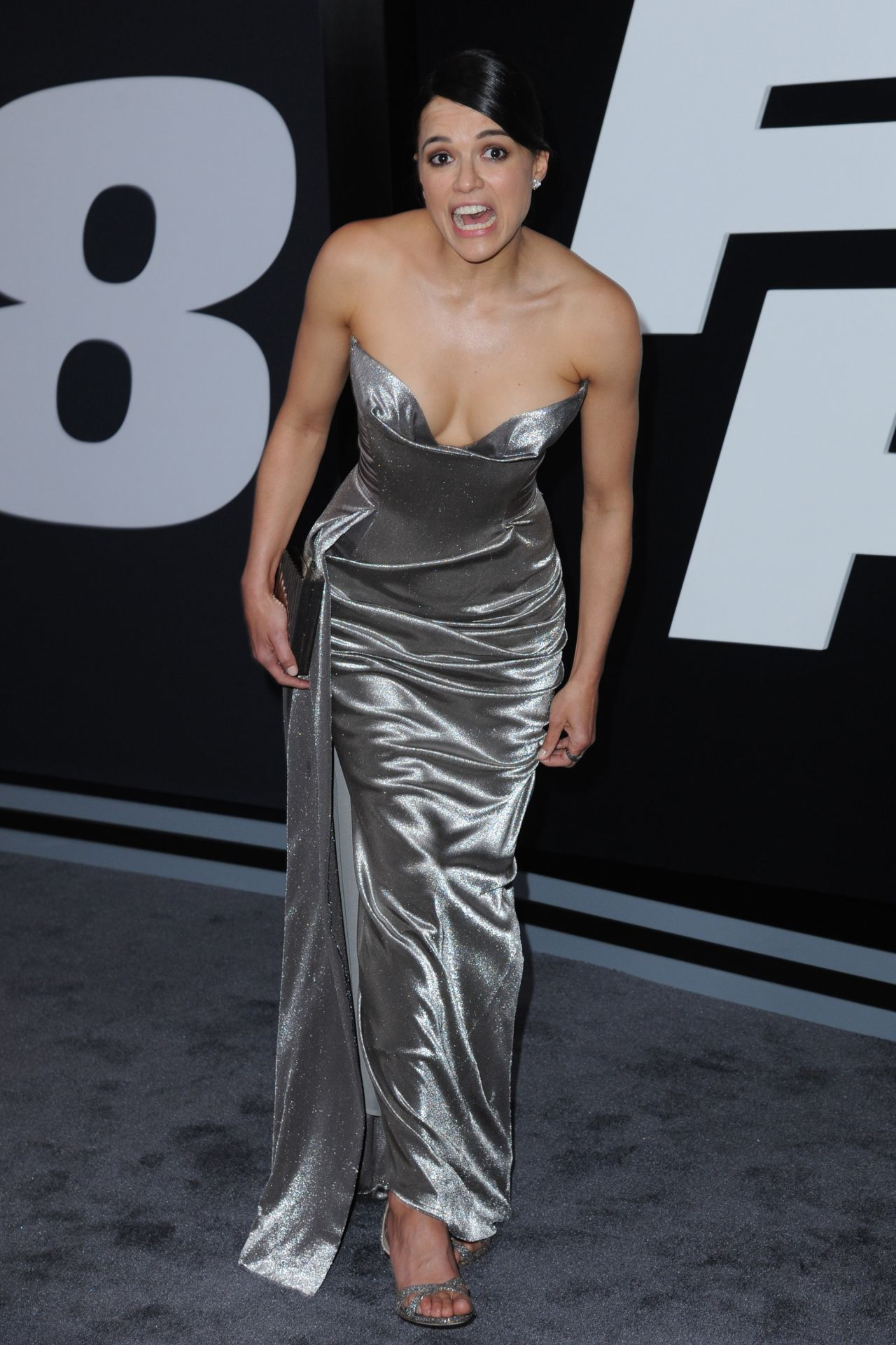 Michelle Rodriguez Fate Of The Furious Pemiere In New