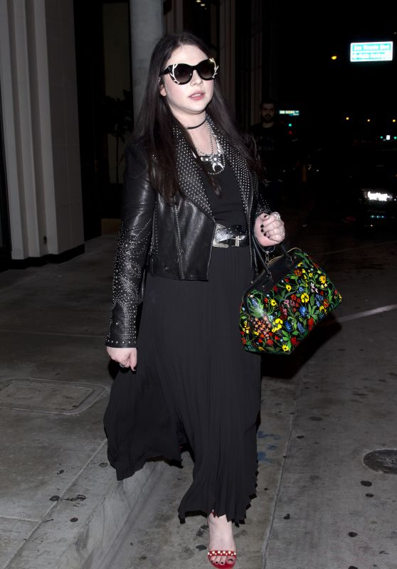 Michelle Trachtenberg - Leaving Catch Restaurant in West Hollywood 4/13/2017