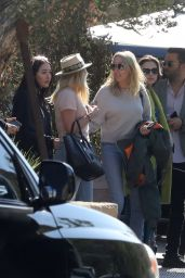 Miley Cryus, Tish Cyrus, Noah Cyrus at Soho Beach House in Malibu 4/9/2017