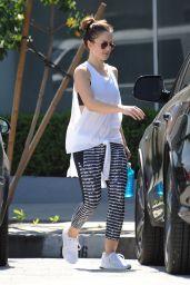 Minka Kelly - Leaving a Gym in Los Angeles 4/5/2017