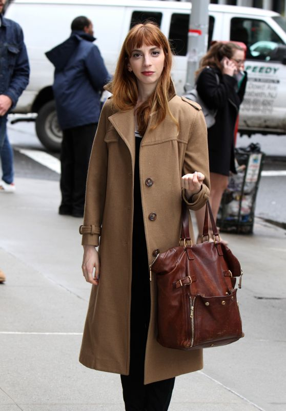 "Molly Bernard at the ""Younger"" Set in NYC 4/4/2017"