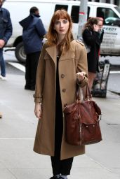 """Molly Bernard at the """"Younger"""" Set in NYC 4/4/2017"""