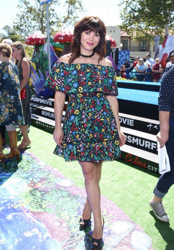 """Moniqua Plante at """"Smurfs: The Lost Village"""" Premiere in Los Angeles"""