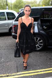 Myleene Klass is Stylish - Arriving at Hilton Hotel in London, UK 04/28/2017