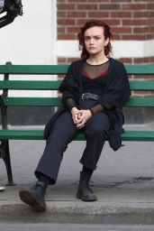 """Olivia Cooke - in Costume on Set of """"Life Itself"""" in NY 4/5/2017"""