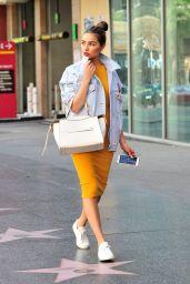 Olivia Culpo Casual Style - Running Errands in LA, April 2017