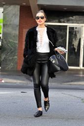 Olivia Culpo Chic Street Style - Leaving an Office Building LA 4/3/2017