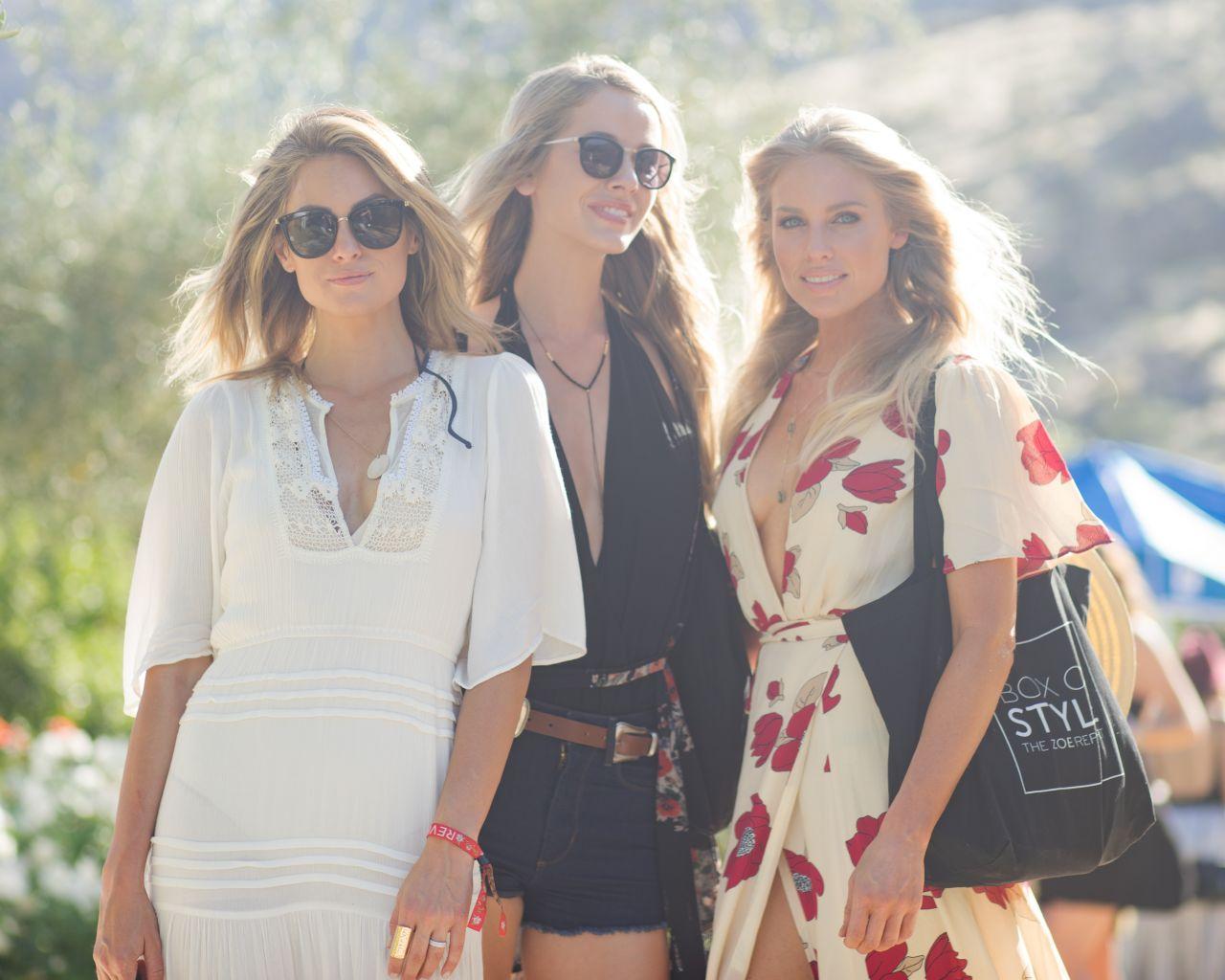 Olivia Jordan – Rachel ZOEasis at Coachella in Palm Springs, April 2017