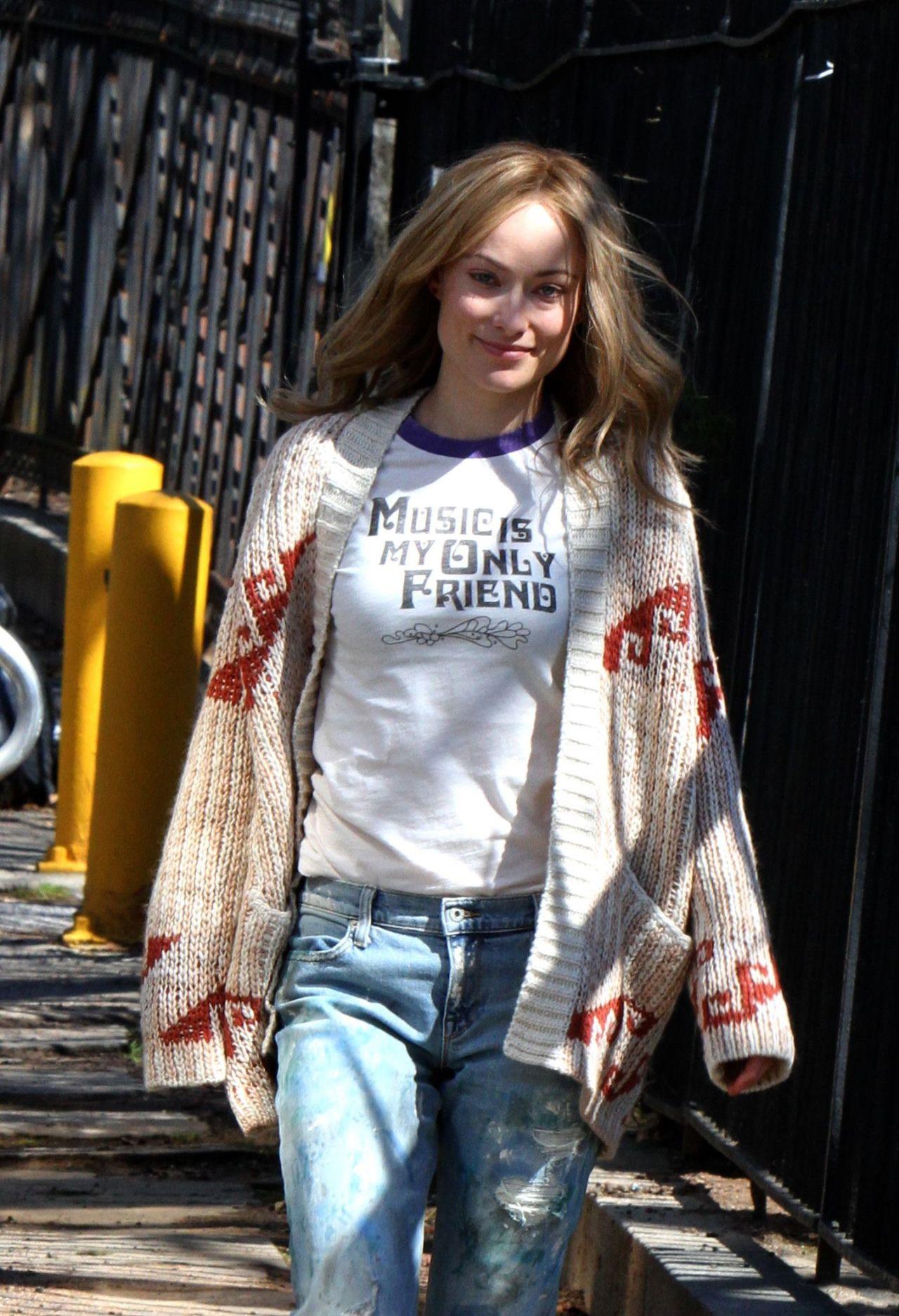 "Olivia Wilde - ""Life Itself"" Movie Set in Staten Island in New York 4/5/2017"