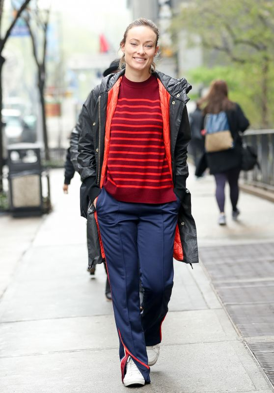 Olivia Wilde Makeup Free - Midtown, New York City 4/20/2017