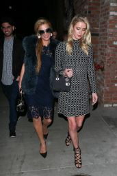 Paris & Nicky Hilton - TAO Beauty & Essex in Hollywood 4/7/2017