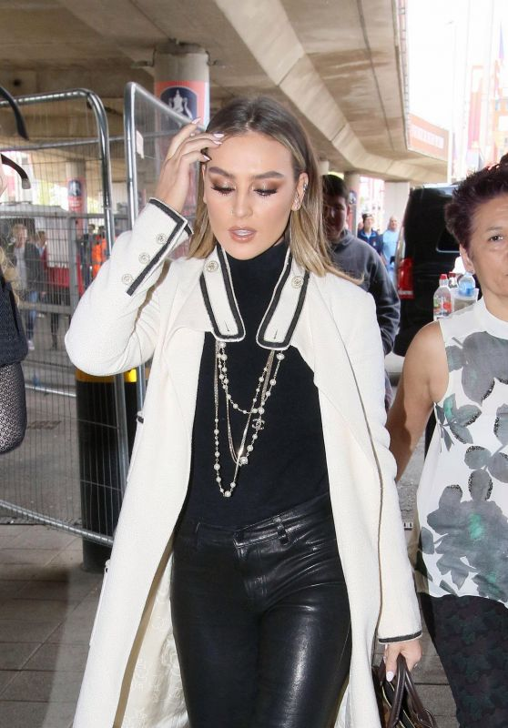 Perrie Edwards - Arriving at Wembley Stadium in London 4/23/2017